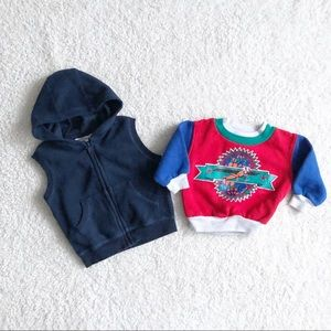 Other - Baby Boy Hooded Vest and Pullover Bundle